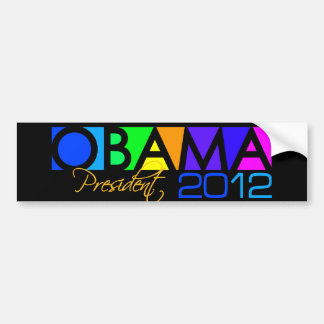 OBAMA 2012 bumpersticker Bumper Sticker