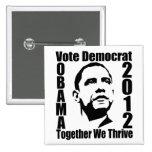 OBAMA 2012 button