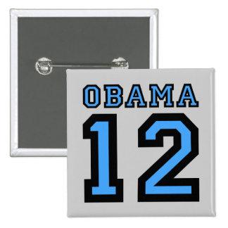 Obama 2012 2 inch square button
