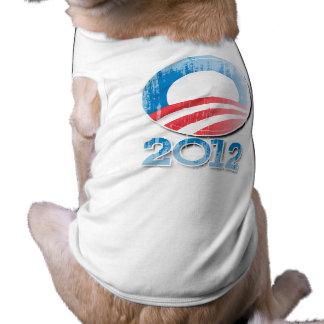 Obama 2012 Button Vintage.png Pet T-shirt