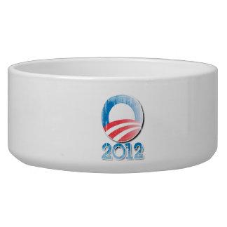 Obama 2012 Button Vintage.png Pet Water Bowls