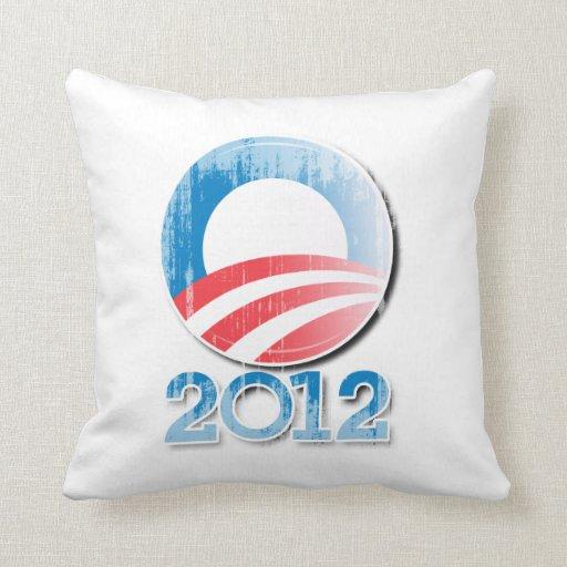 Obama 2012 Button Vintage.png Pillows