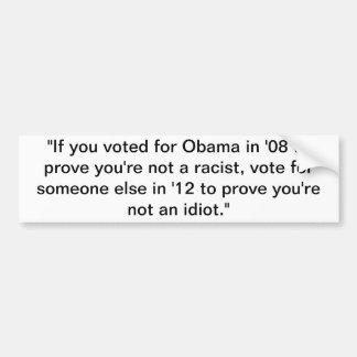 "Obama ""2012 "" etiqueta de parachoque"