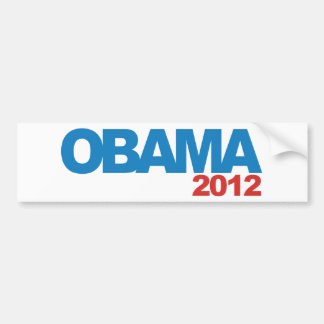 OBAMA 2012 Campaign Design Bumper Sticker