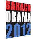 Obama 2012 canvas prints
