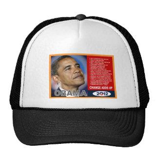 obama 2012 change adds up trucker hat