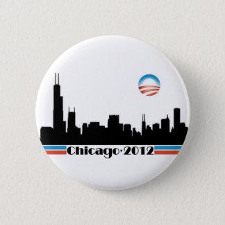 Obama 2012 - Chicago Skyline Pinback Button
