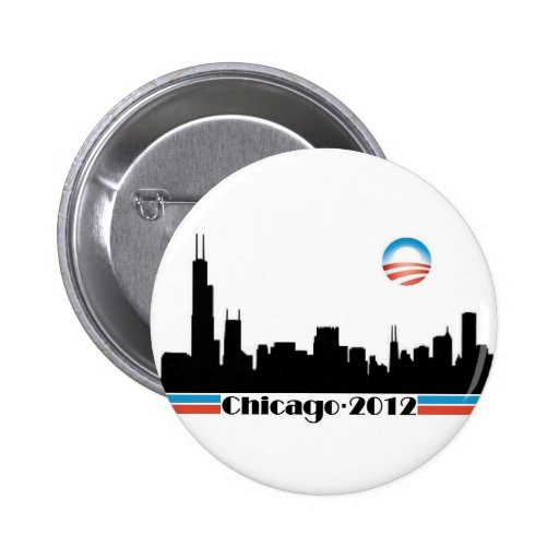 Obama 2012 - Chicago Skyline Pins