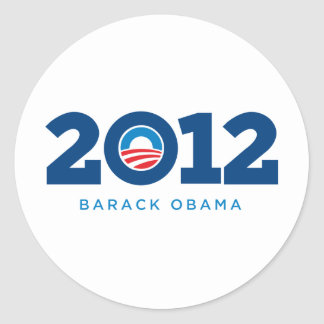 Obama 2012 classic round sticker