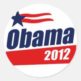 Obama 2012 classic round sticker