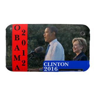 Obama 2012 Clinton 2016 iPhone 3 Case