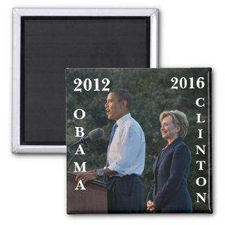 Obama 2012 & Clinton 2016 Fridge Magnet