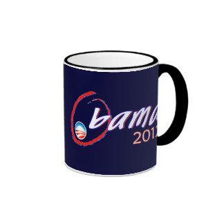 Obama 2012 coffee ringer mug