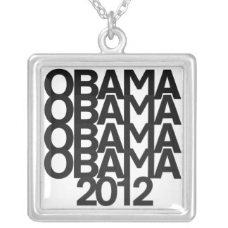 Obama 2012 collar plateado