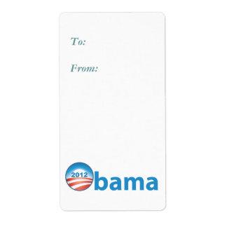 Obama 2012 con el logotipo de Obama Etiquetas De Envío