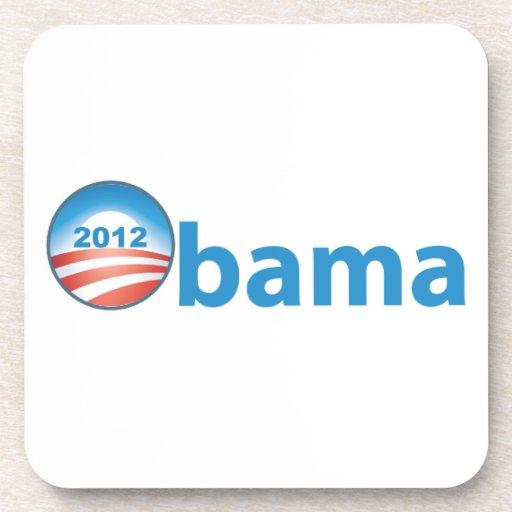 Obama 2012 con el logotipo de Obama Posavasos De Bebida