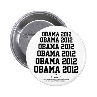 Obama 2012 con una cara sonriente divertida linda pin