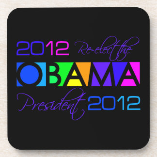 OBAMA 2012 custom coasters