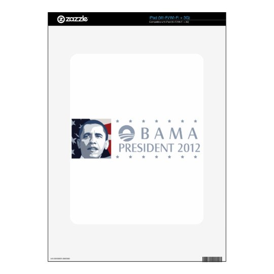 Obama 2012 decal for iPad