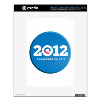 Obama 2012 decals for the NOOK