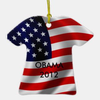 Obama 2012 adorno de cerámica en forma de playera