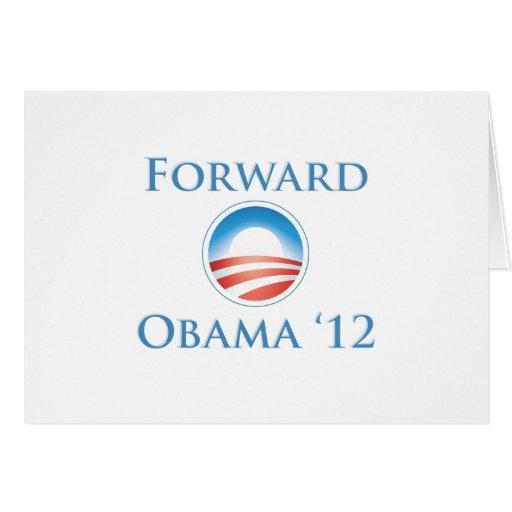 Obama 2012 - Delantero Tarjeta De Felicitación