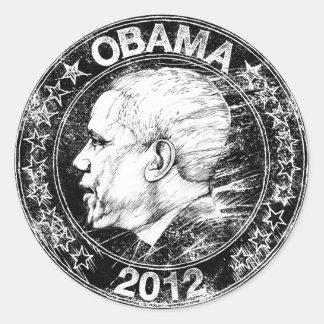 Obama 2012, Drawing Classic Round Sticker