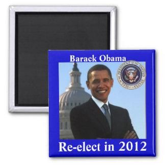 Obama 2012 elecciones imán cuadrado