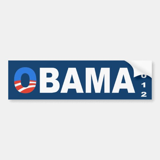 Obama 2012 Election Bumper Sticker