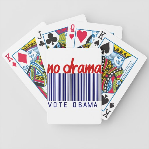 Obama 2012 Election Bumper Sticker Bicycle Playing Cards