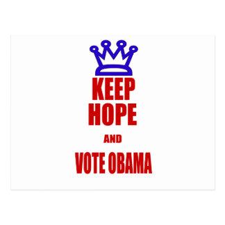 Obama 2012 Election KEEP CALM Style Postcard