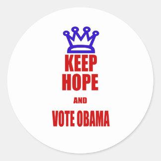 Obama 2012 Election KEEP CALM Style Round Sticker