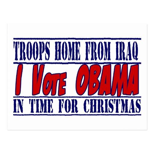 Obama 2012 Election support Postcards