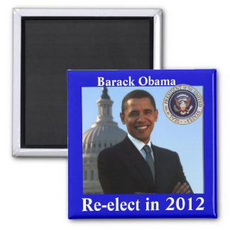Obama 2012 Elections 2 Inch Square Magnet