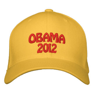 OBAMA 2012 EMBROIDERED HATS