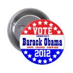 Obama 2012 (estilo del vintage) pin