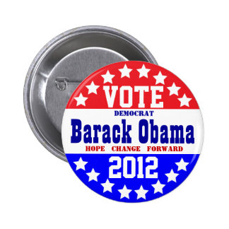 Obama 2012 (estilo del vintage) pin redondo 5 cm