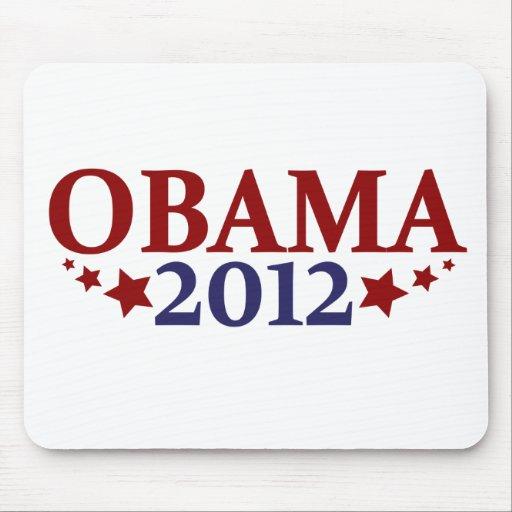 Obama 2012 estrellas tapetes de ratón