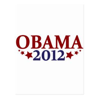 Obama 2012 estrellas postal