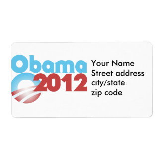 Obama 2012 etiqueta de envío