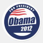 Obama 2012 etiqueta redonda