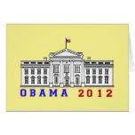 Obama 2012 for Whitehouse Card