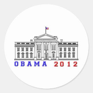 Obama 2012 for Whitehouse Classic Round Sticker