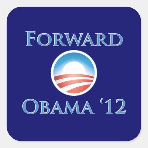 Obama 2012 - Forward Square Sticker