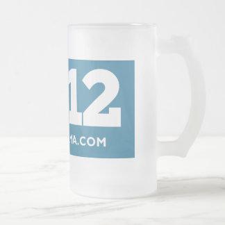 Obama 2012 frosted glass beer mug