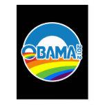 Obama 2012 Gay Pride Rainbow Post Card
