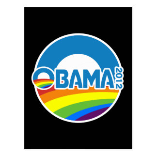 Obama 2012 Gay Pride Rainbow Postcard