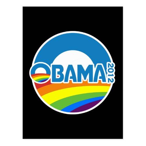 Obama 2012 Gay Pride Rainbow Postcard