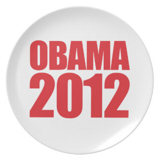OBAMA 2012 GRAPHIC IMPACT - -.png Party Plate