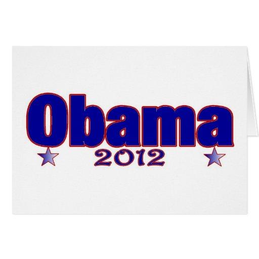 Obama 2012 greeting card